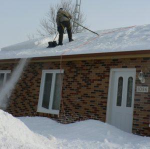 déneigement de toitures